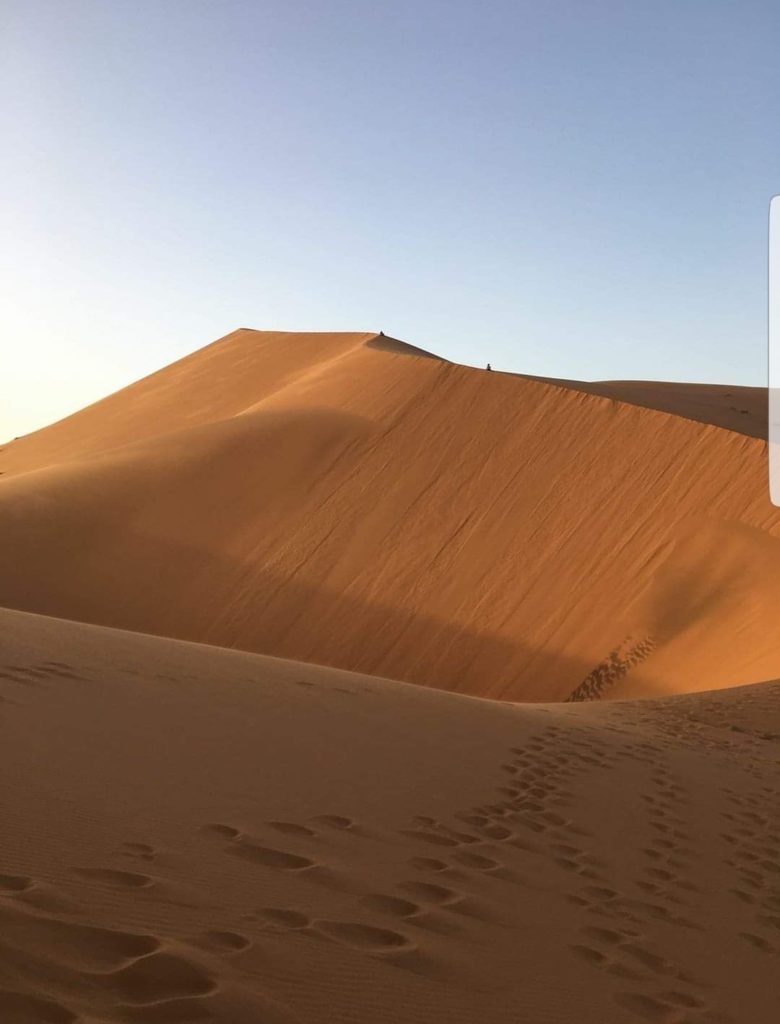 atardecer desierto de merzouga dunas